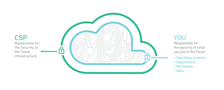 Illustration of cloud with data inside
